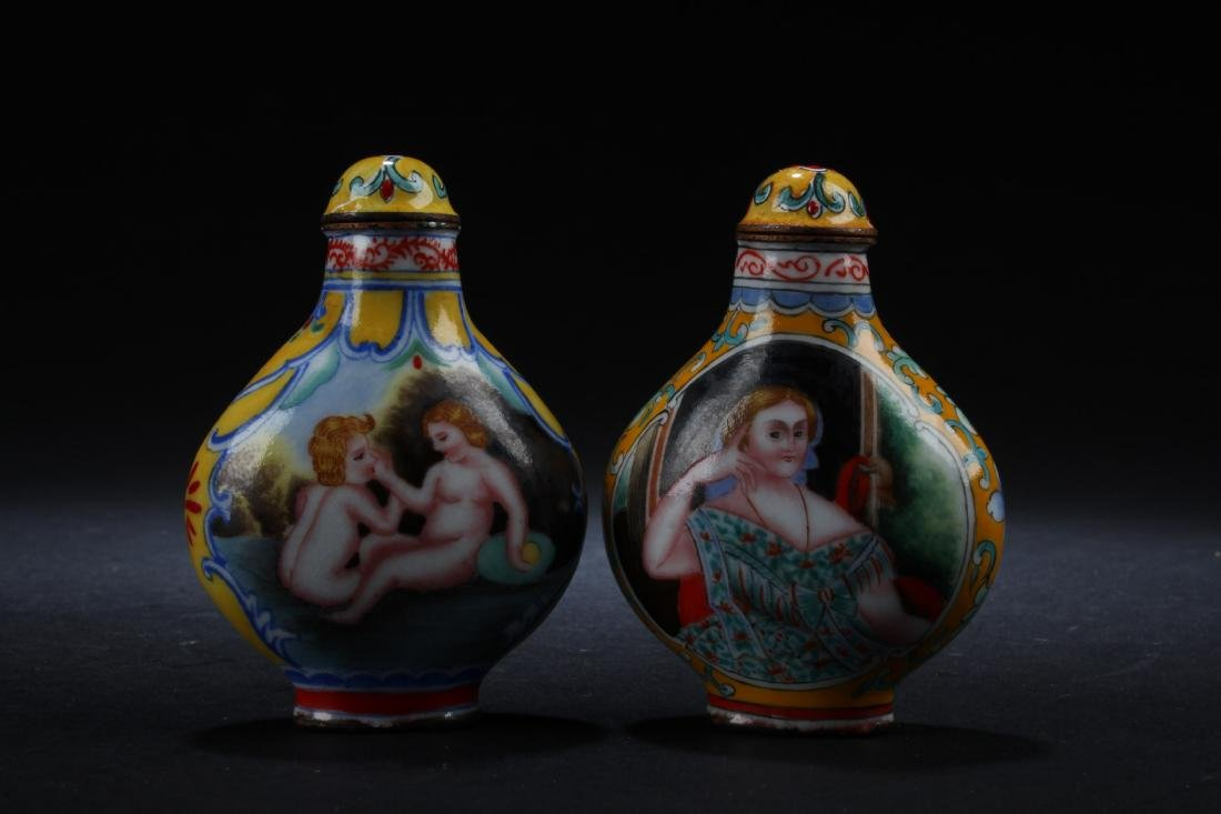 Two Cloisonne Snuff Bottles