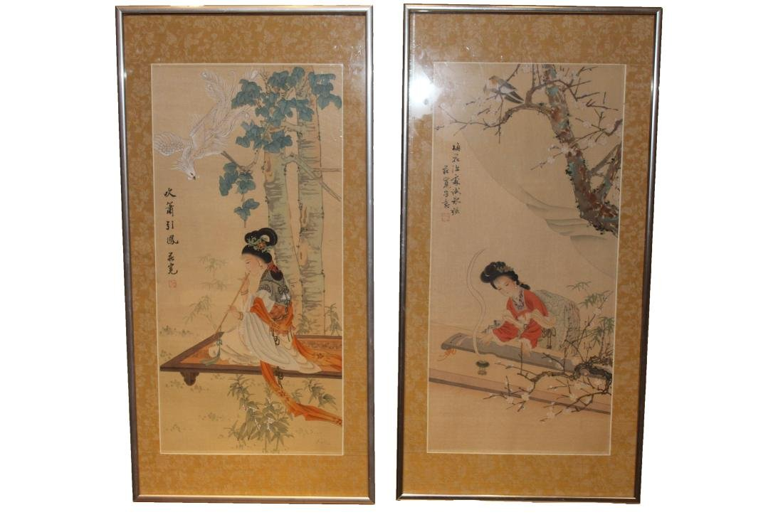 A Group of Two Chinese Framed Painting
