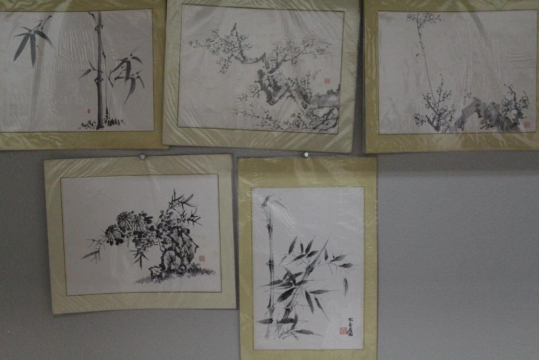 A Group of Five Chinese Painting
