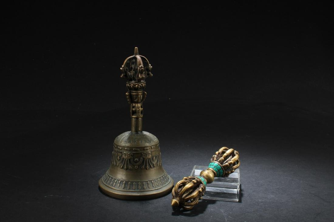 A Group of Two Tibetan Religious Bells