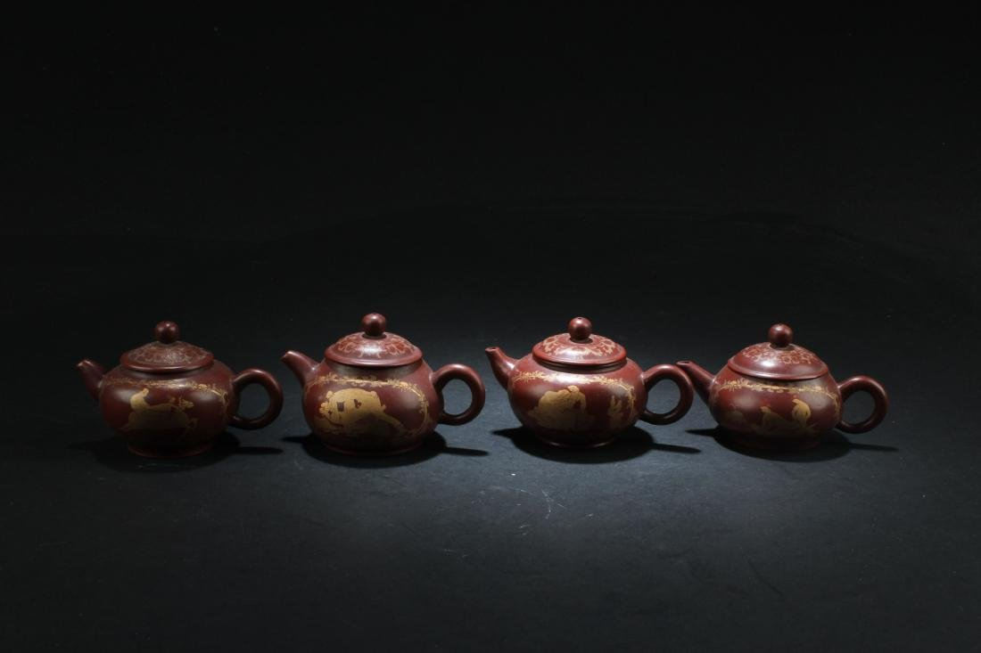 A Group of Four Chinese Zisha Teapot