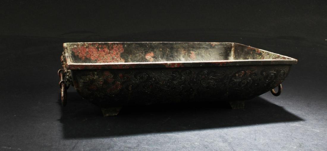 Chinese Bronze Bronze Rectangular Tray