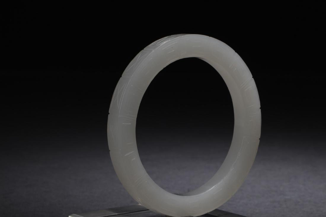 Antique Chinese White Jade Bangle