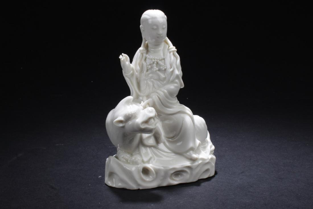 Antique Chinese Blanc De Chine Statue