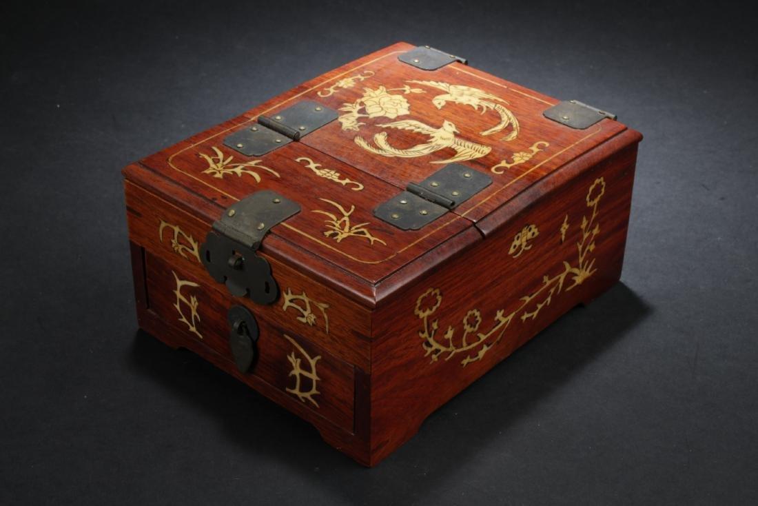 Antique Chinese Hardwood Jewelry box