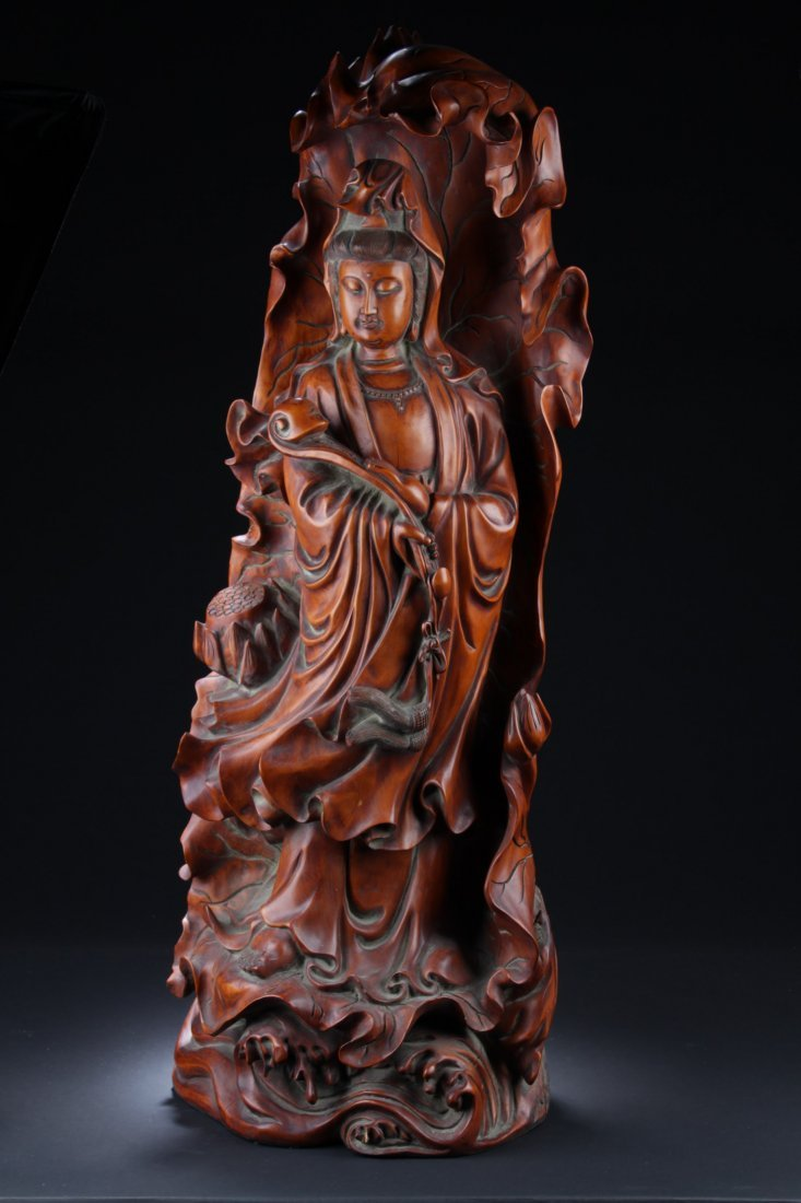 Large Antique Wood Carved Sculpture