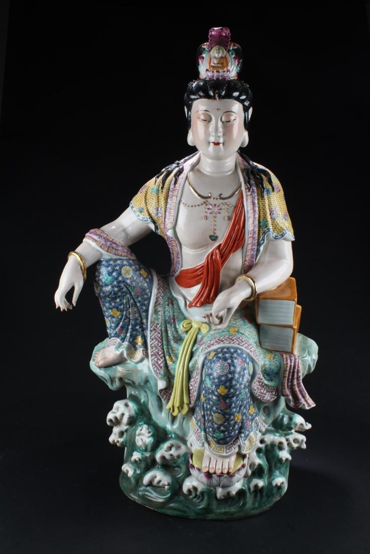 Chinese Porcelain Bodhisattva Statue