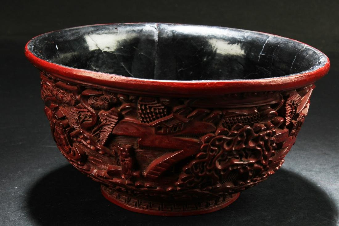 Chinese Cinnabar Lacquer Bowl