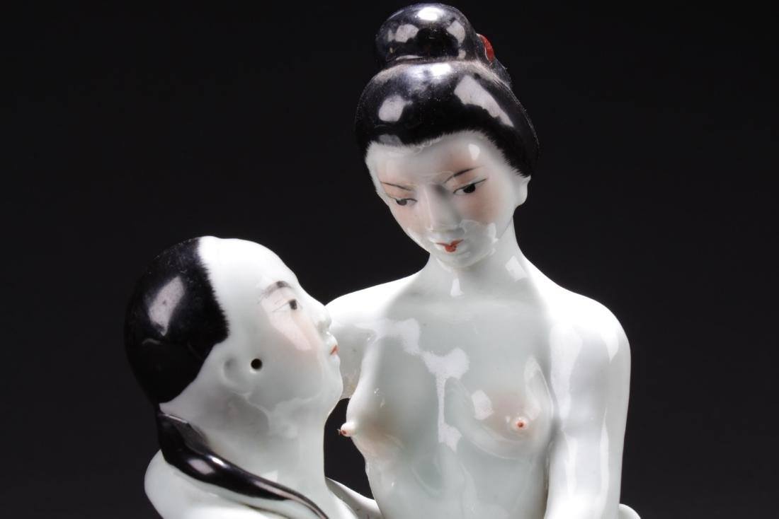Chinese Porcelain Statue - 2