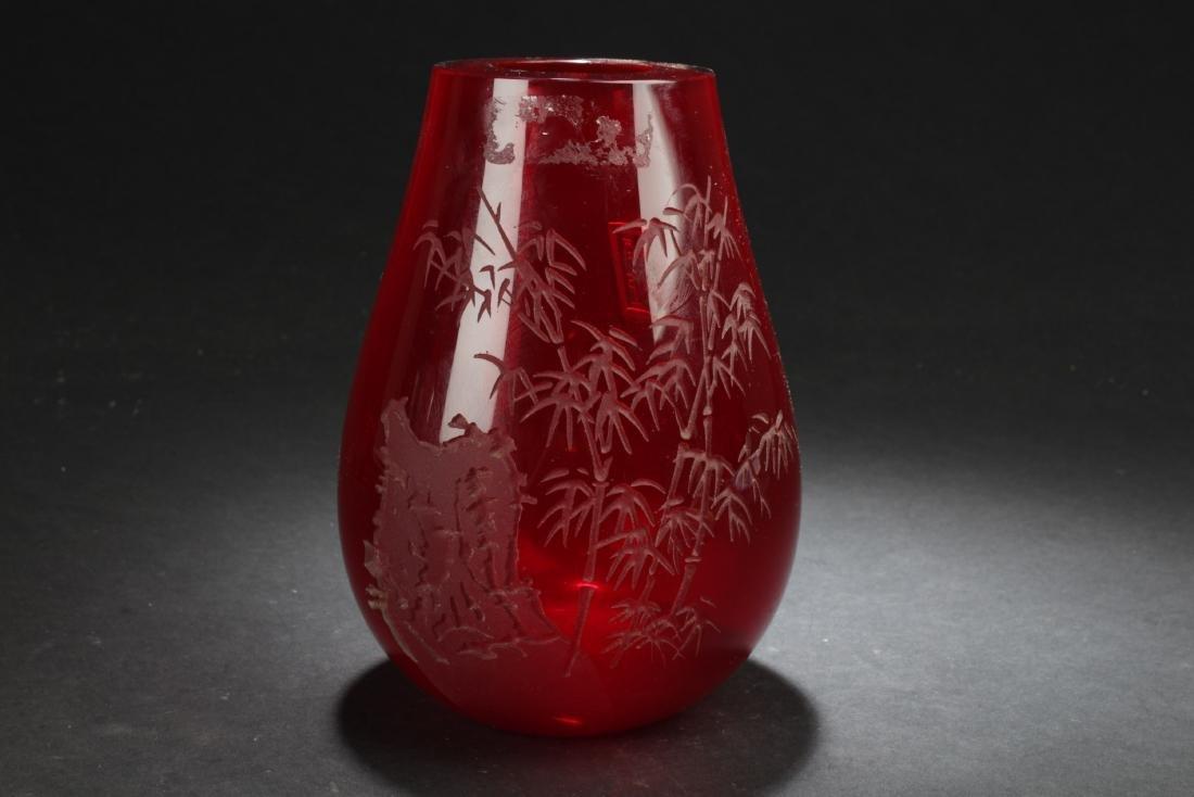Antique Chinese Peking Glass Vase