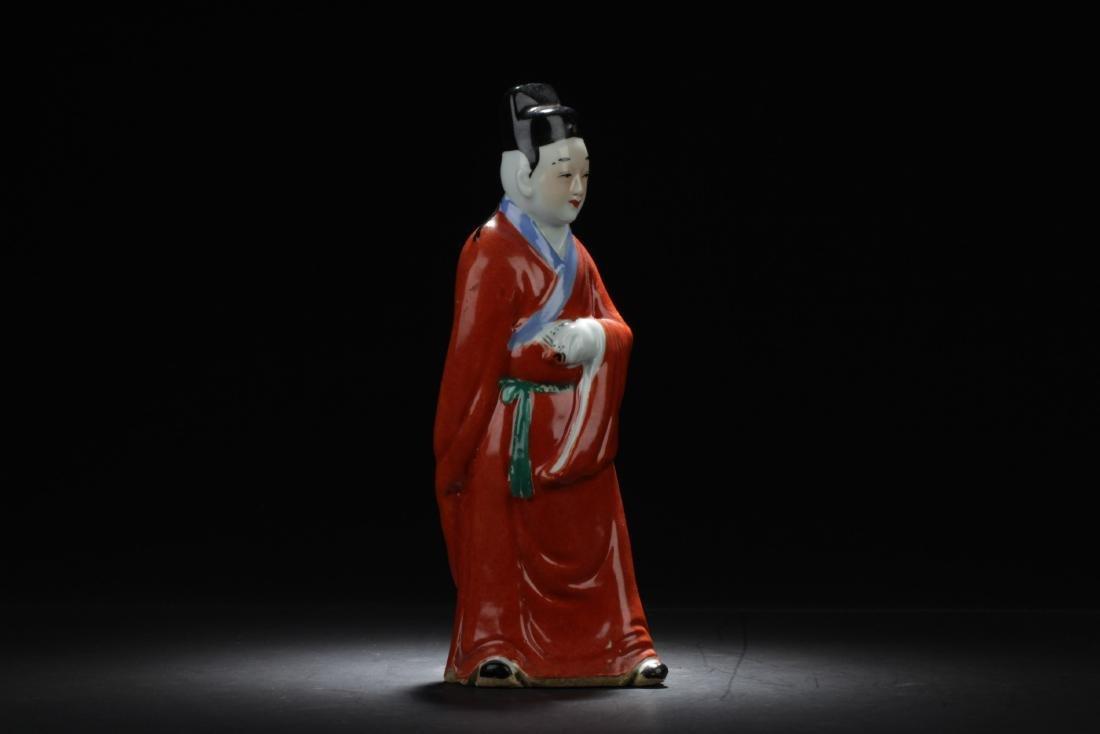 Antique Chinese Porcelain Scholar Statue