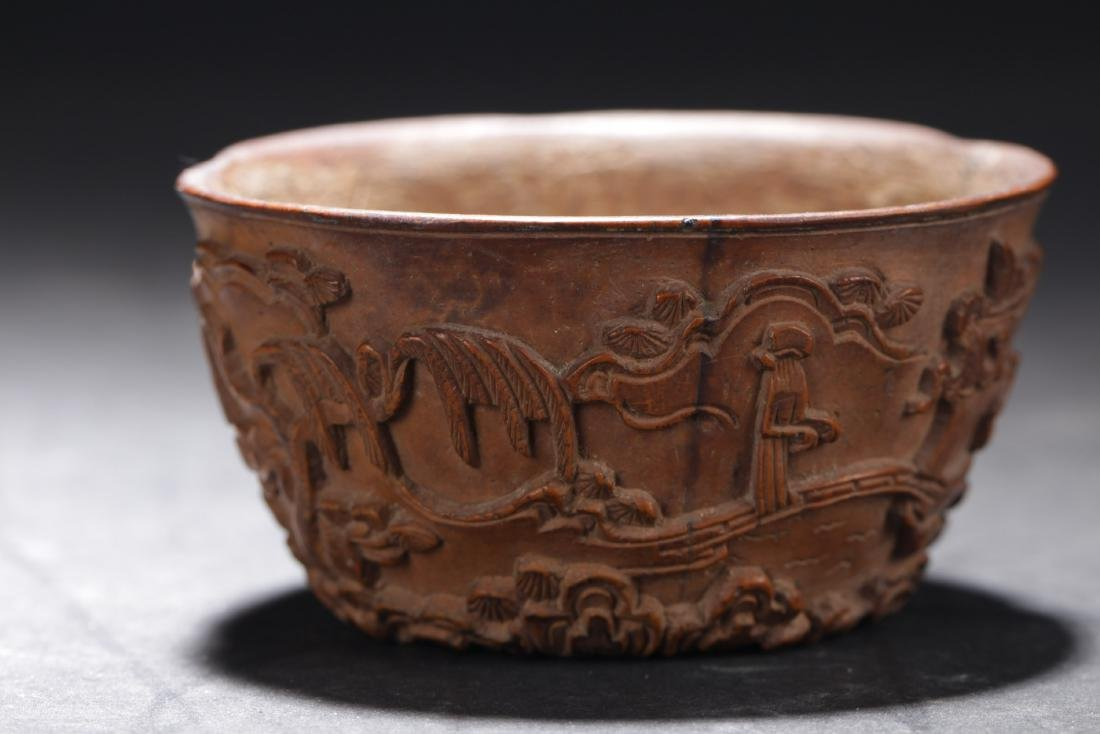 A Well Curved Chinese Wooden Cup