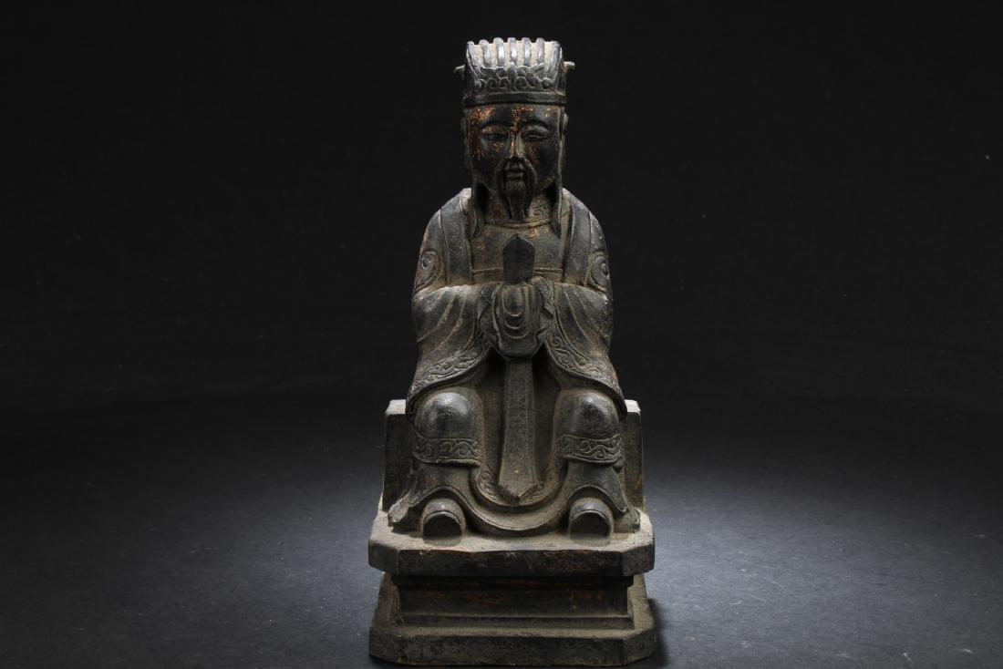Chinese Bronze Deity Statue