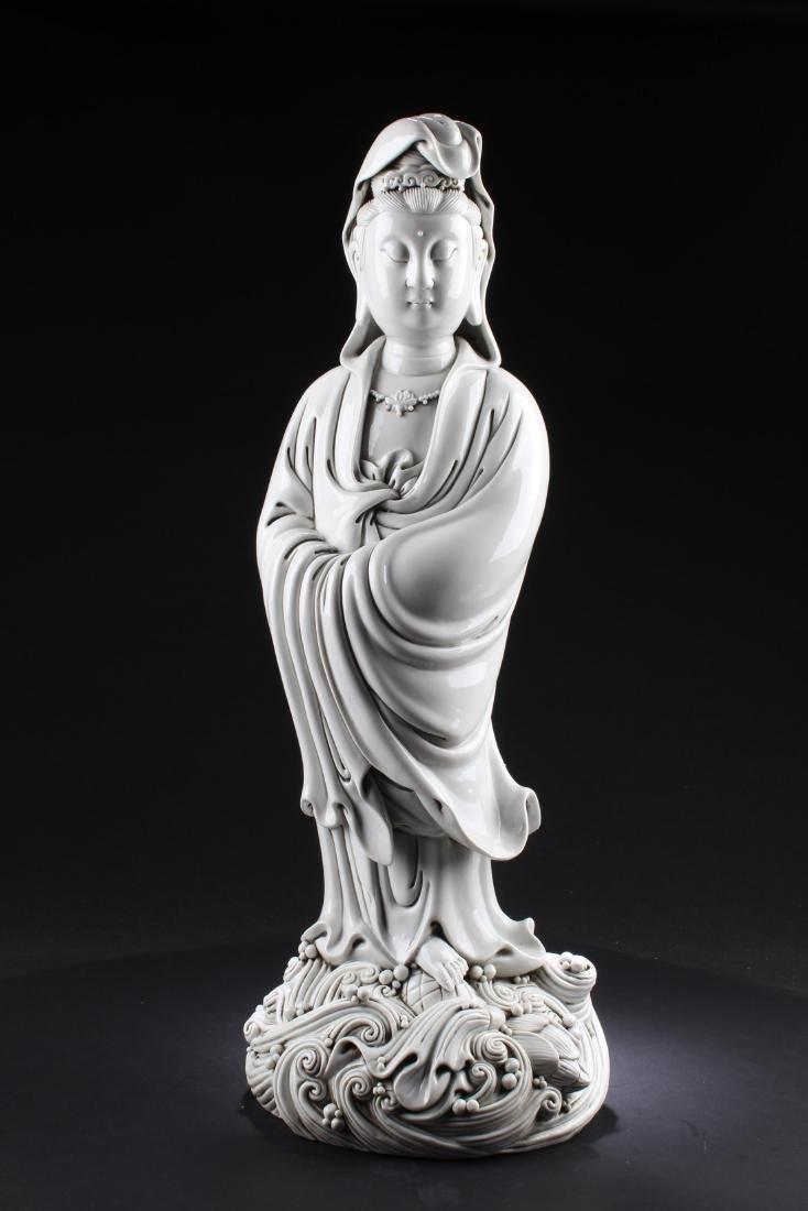 Chinese Blanc De Chine Guanyin Statue
