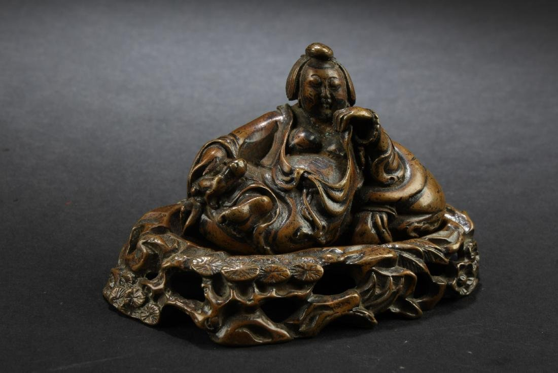 Chinese Bronze Ornament With Stand