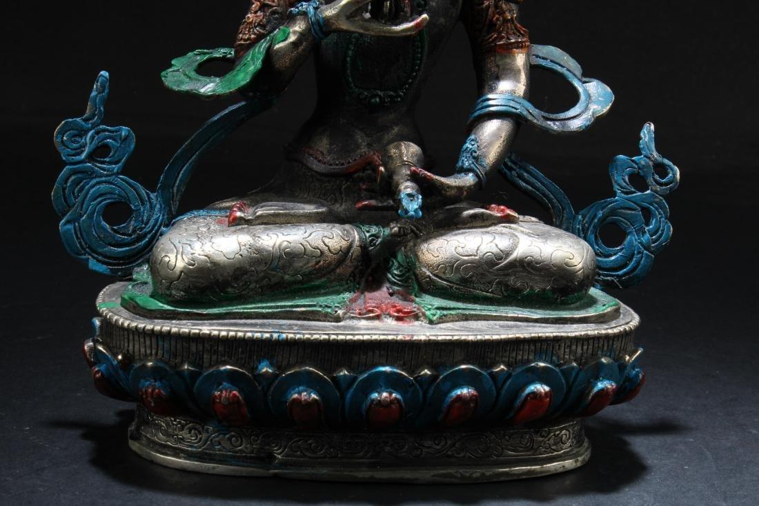 Chinese Bronze Bodhisattva Statue - 3