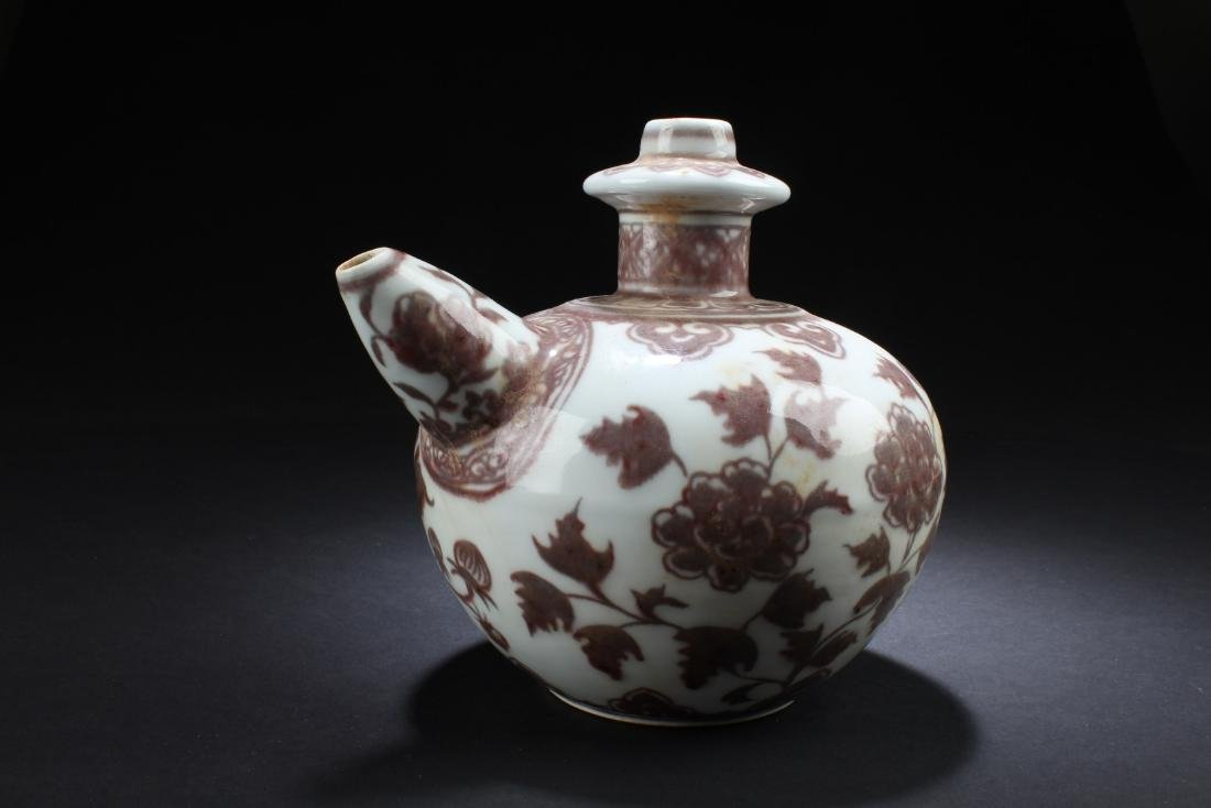 Chinese Iron Red Porcelain Ewer - 2