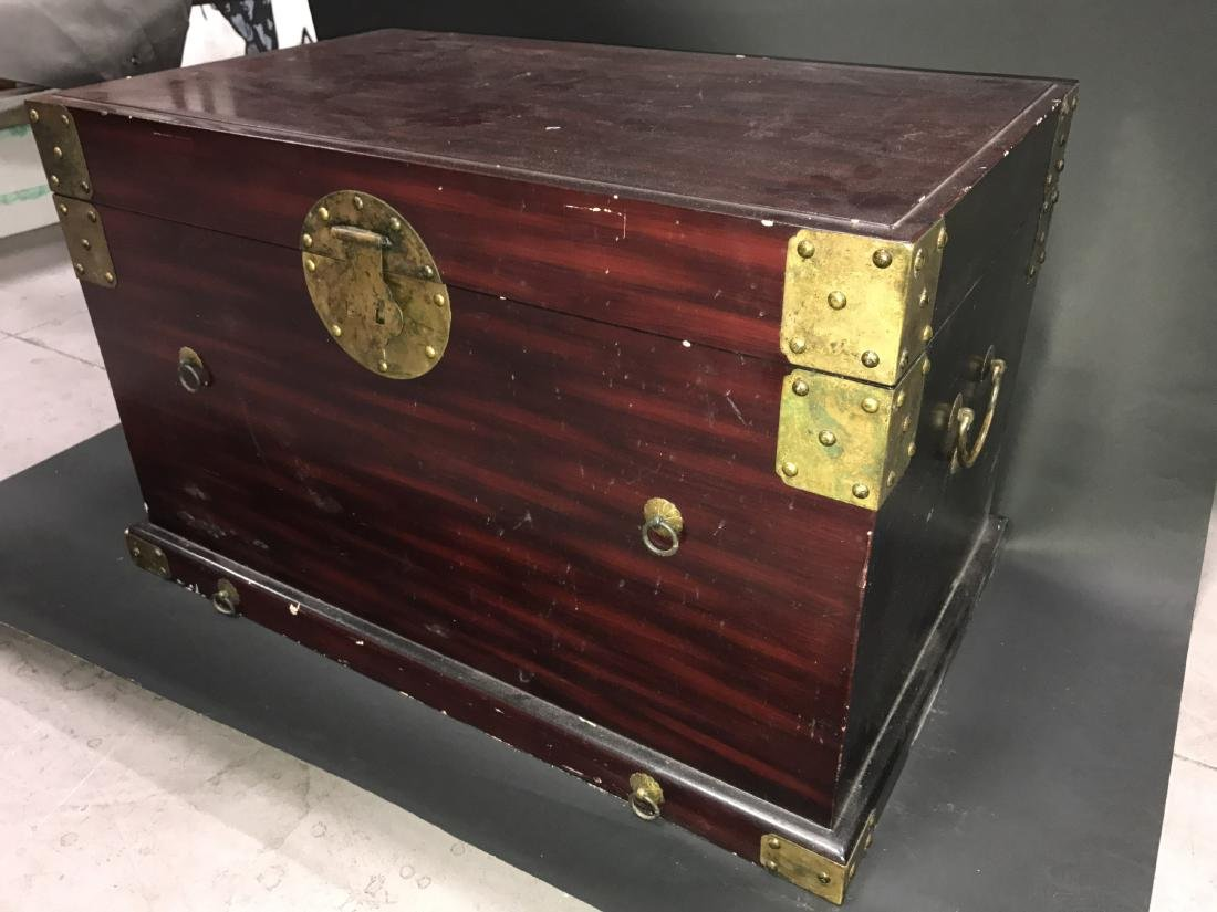 Chinese Hardwood Treasure Box