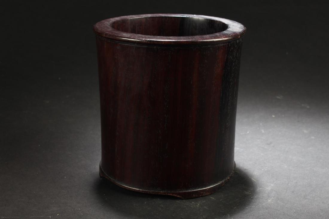 Antique Chinese Hardwood Brushpot