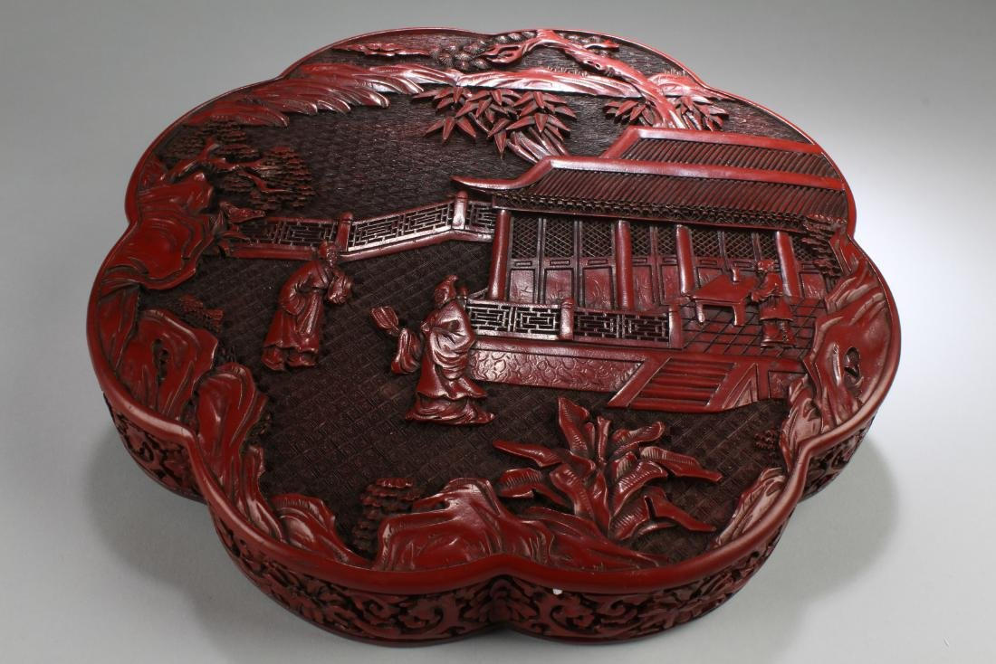Chinese Cinnabar Lacquered Round Container - 3