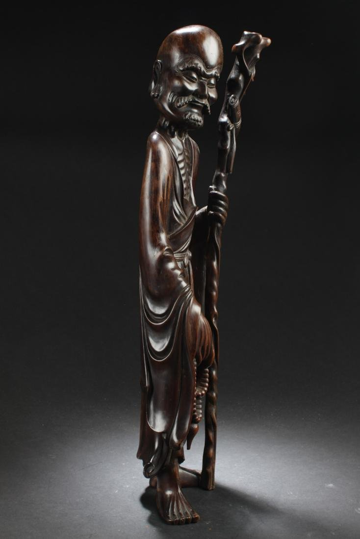 Antique Chinese Bowood Carved Statue - 2