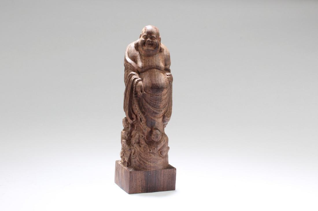 Chinese Hardwood Carved Bodhisattva Statue