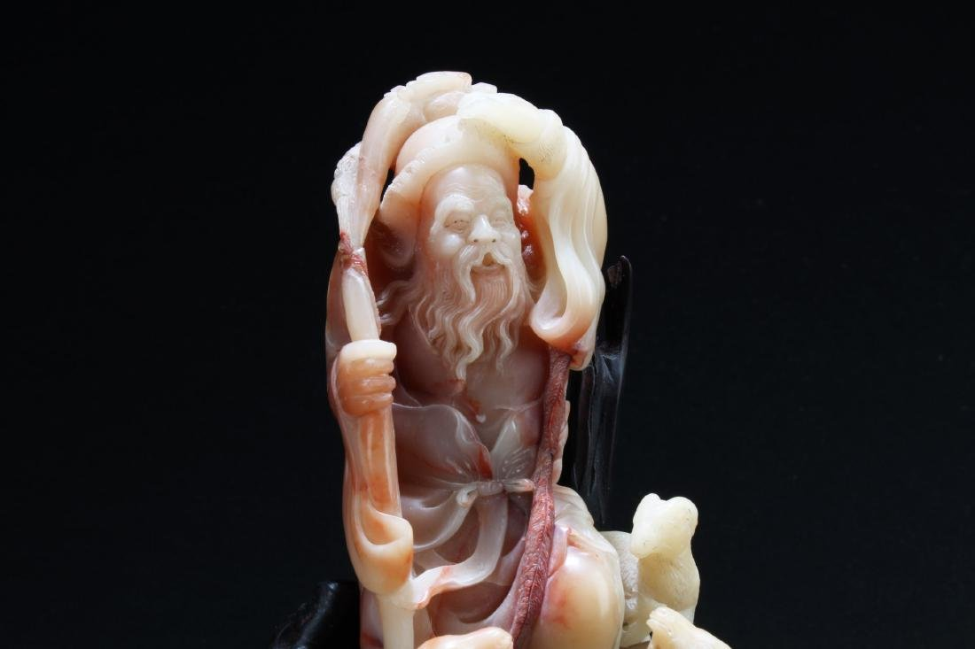 Chinese Shoushan Soapstone Carved Statue - 2