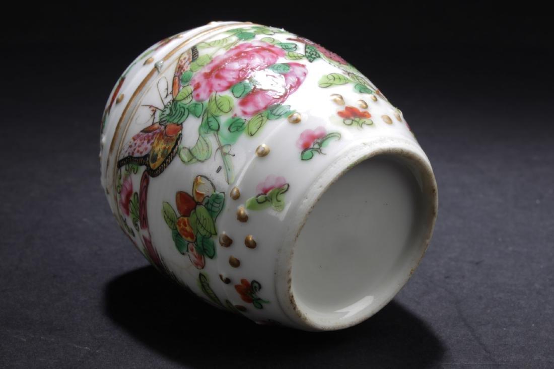 Chinese Famille Verte Porcelain Jar - 5