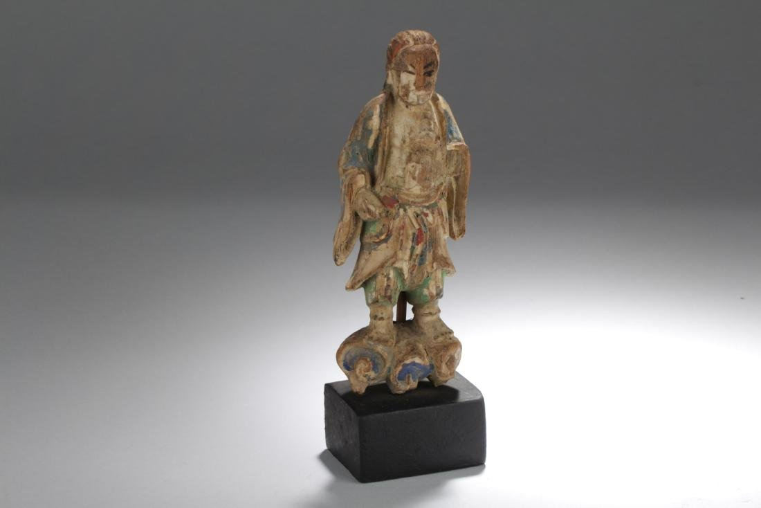 Chinese Wooden Carved Statue Figure