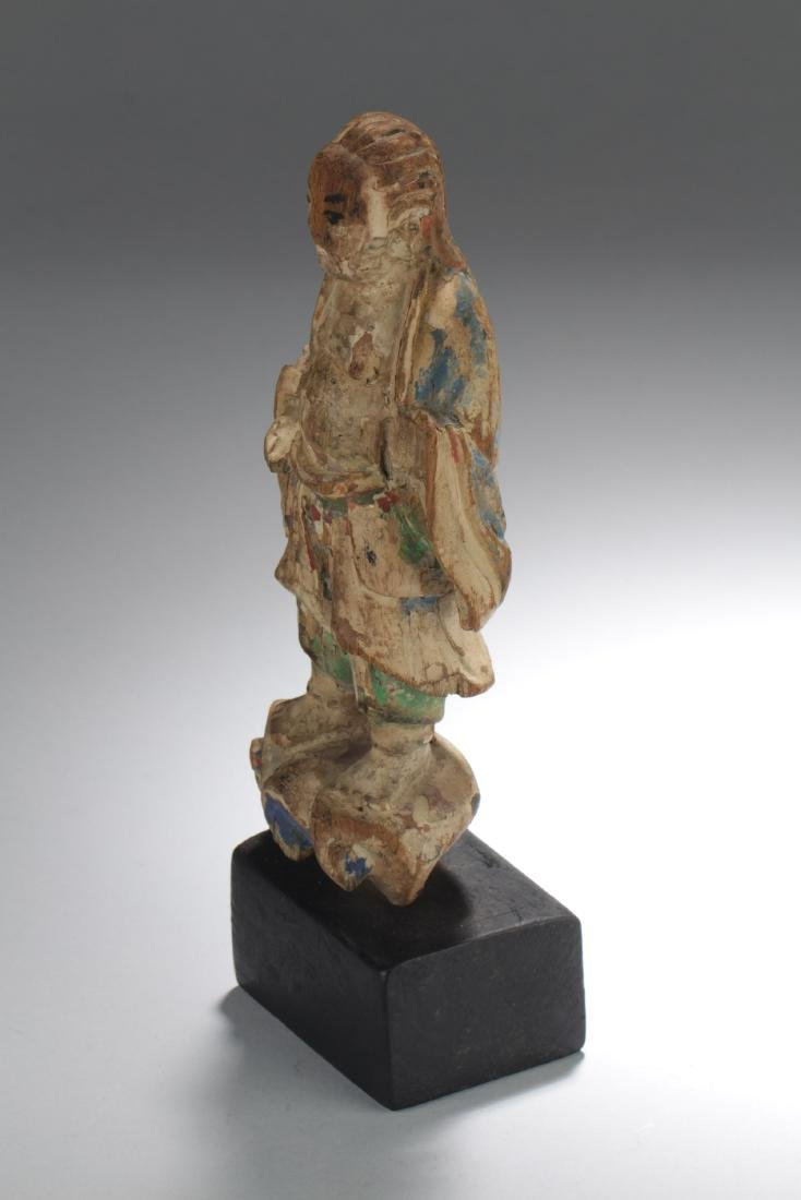 Chinese Wooden Carved Statue Figure - 4