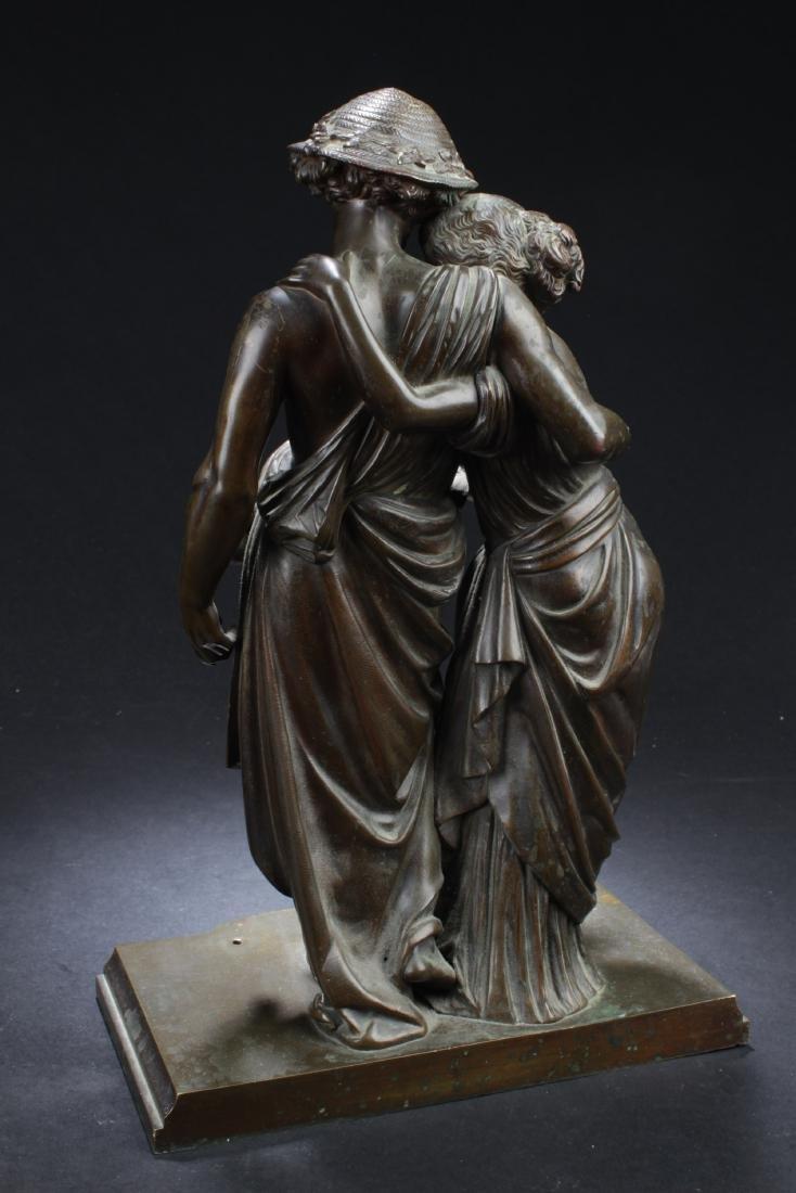 Antique European Style Bronze Statue - 3