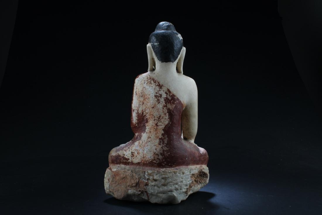 Antique Thai Buddha Statue - 4