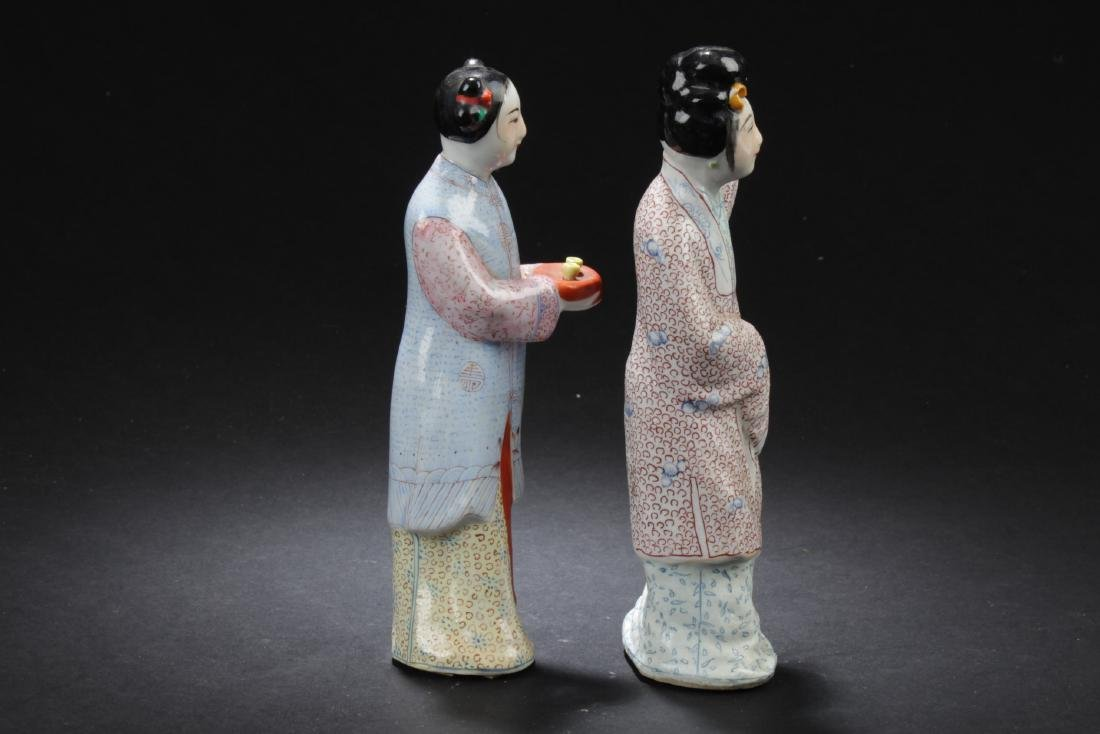 Two Chinese Porcelain Figure Statues - 2