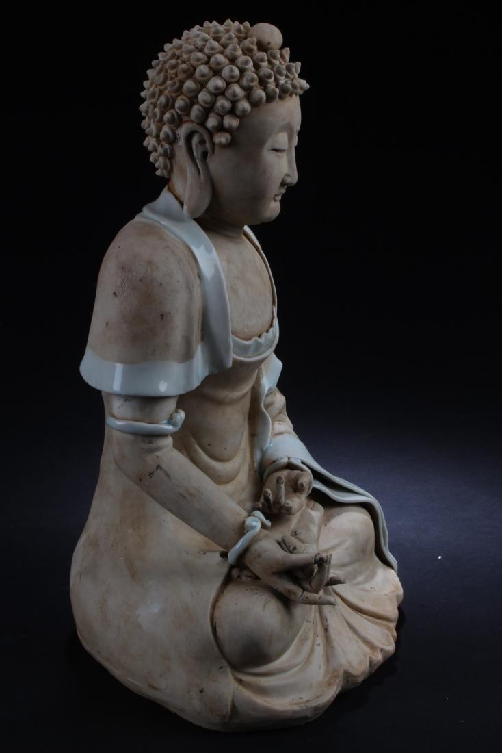 Chinese Porcelain Buddha Statue - 2