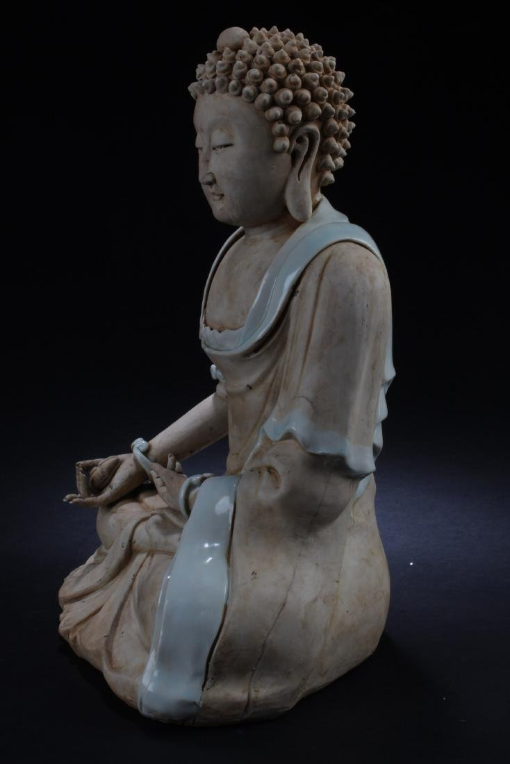 Chinese Porcelain Buddha Statue - 4