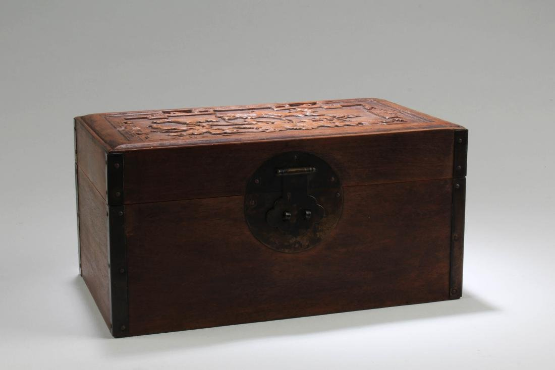Chinese Hardwood Rectangular Box