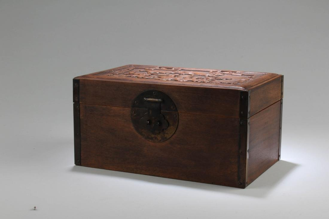 Chinese Hardwood Rectangular Box - 2