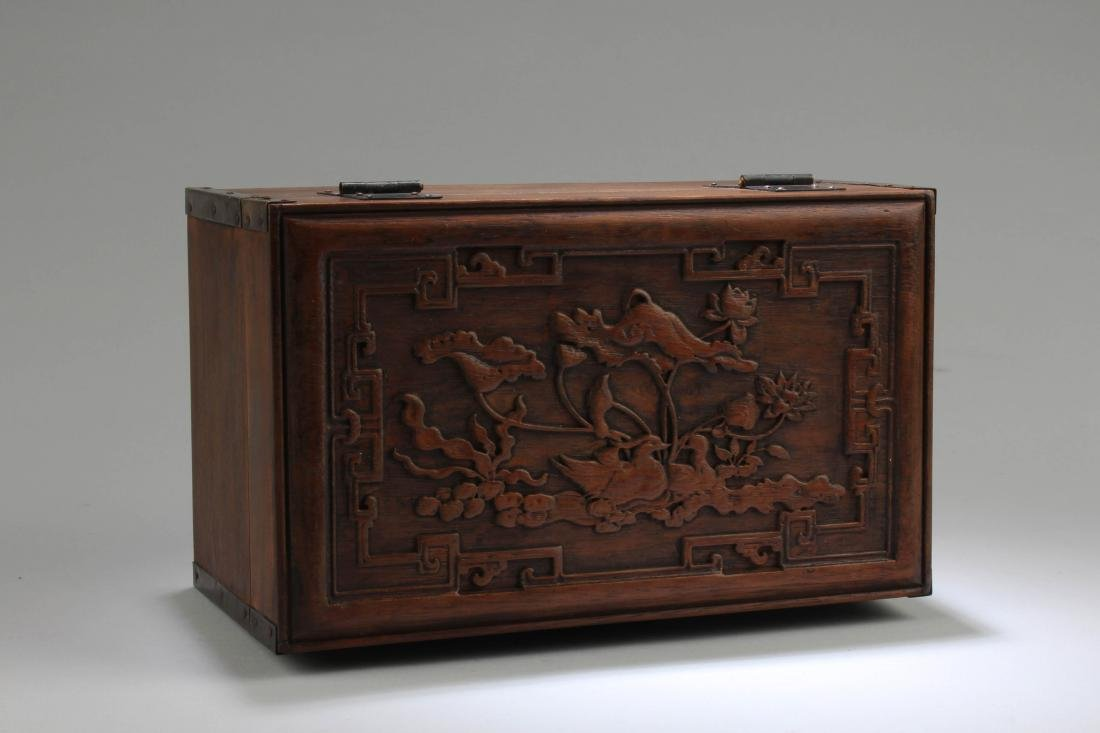 Chinese Hardwood Rectangular Box - 3
