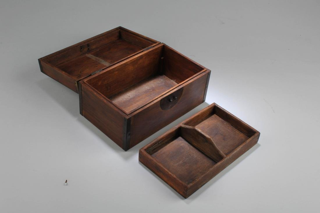 Chinese Hardwood Rectangular Box - 4