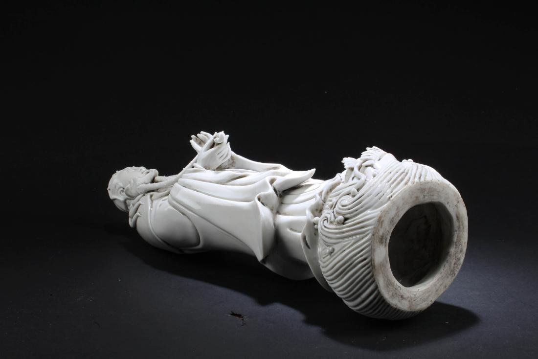 Chinese Blanc De Chine Guanyin Statue - 6