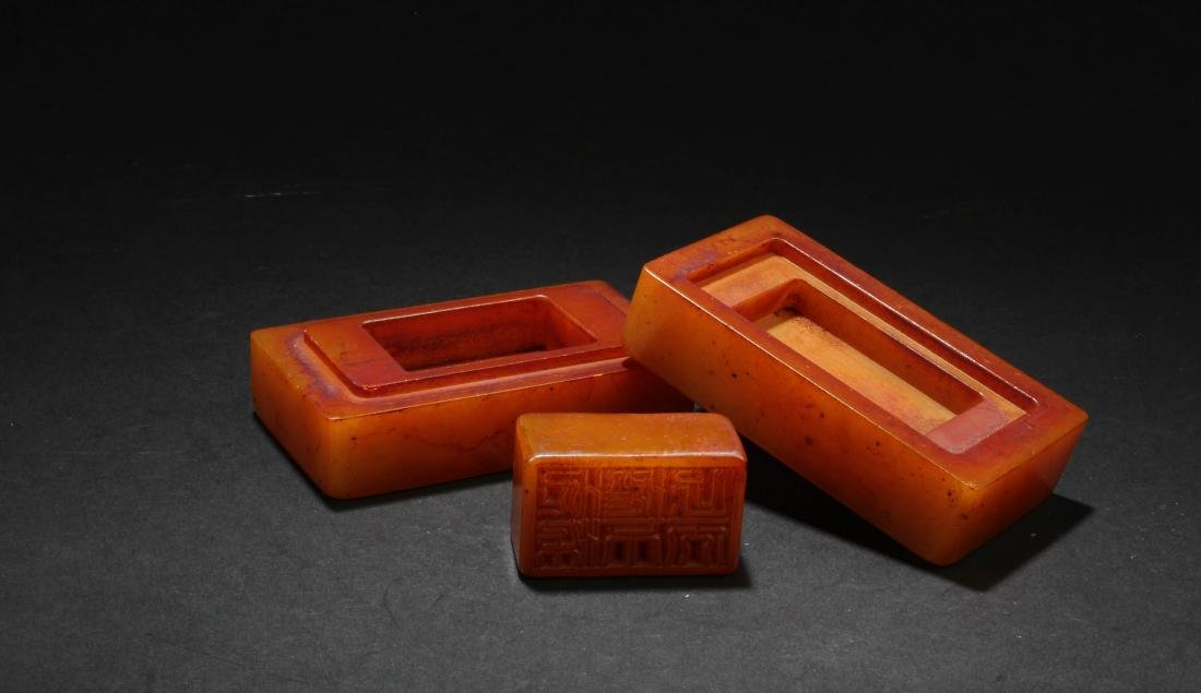 A Chinese Soapstone Seal - 2