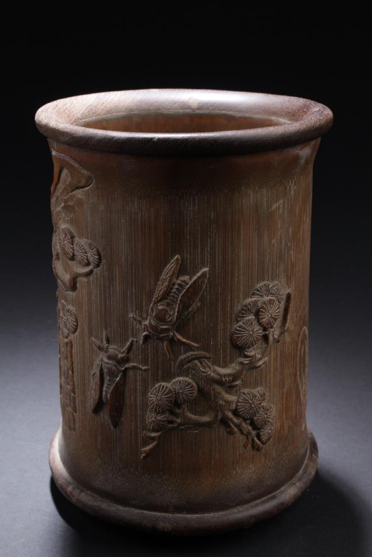 Chinese Bamboo Brushpot - 2