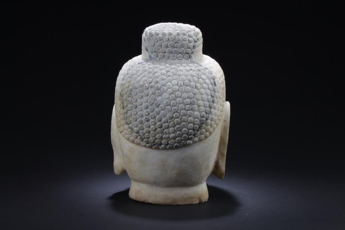 Chinese Stone Buddha Head - 3