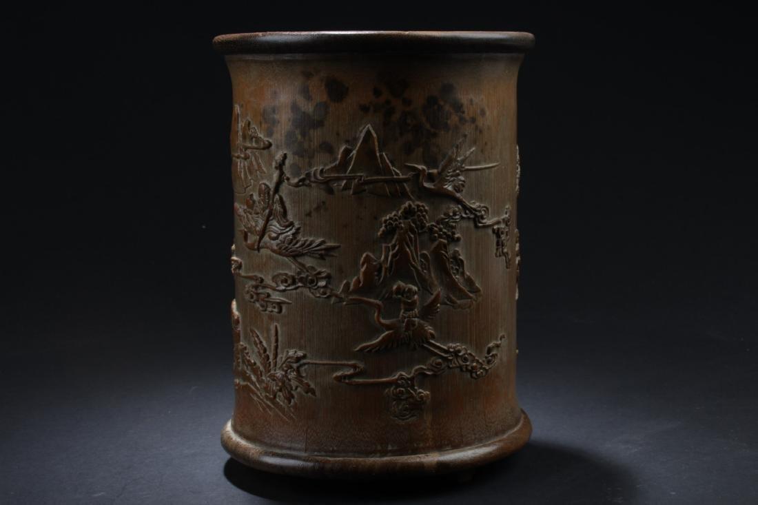 Chinese Bamboo Brushpot - 3