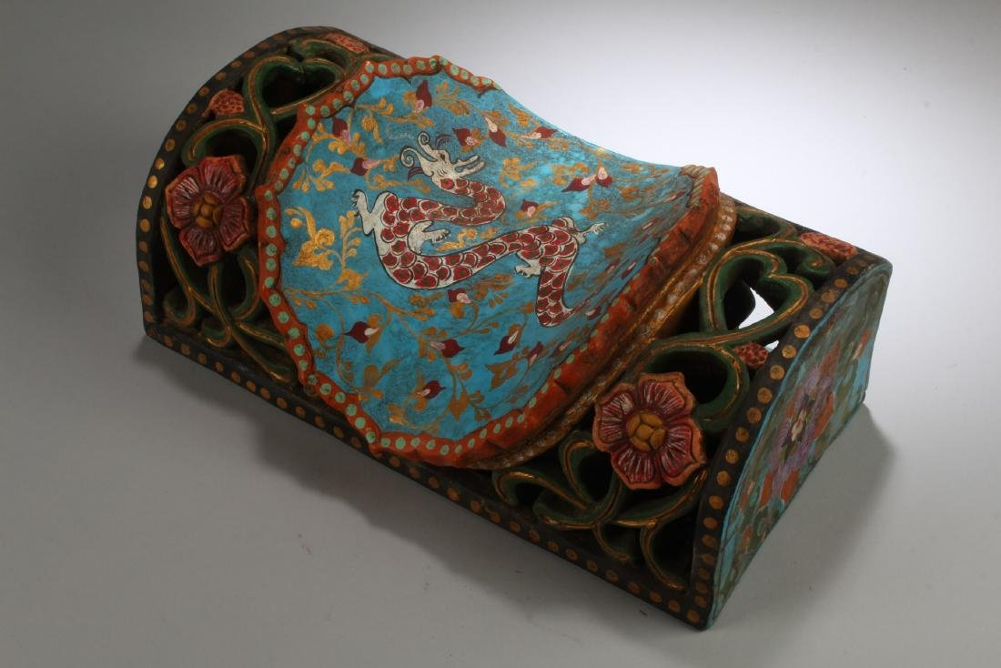 Chinese Cloisonne Pillow