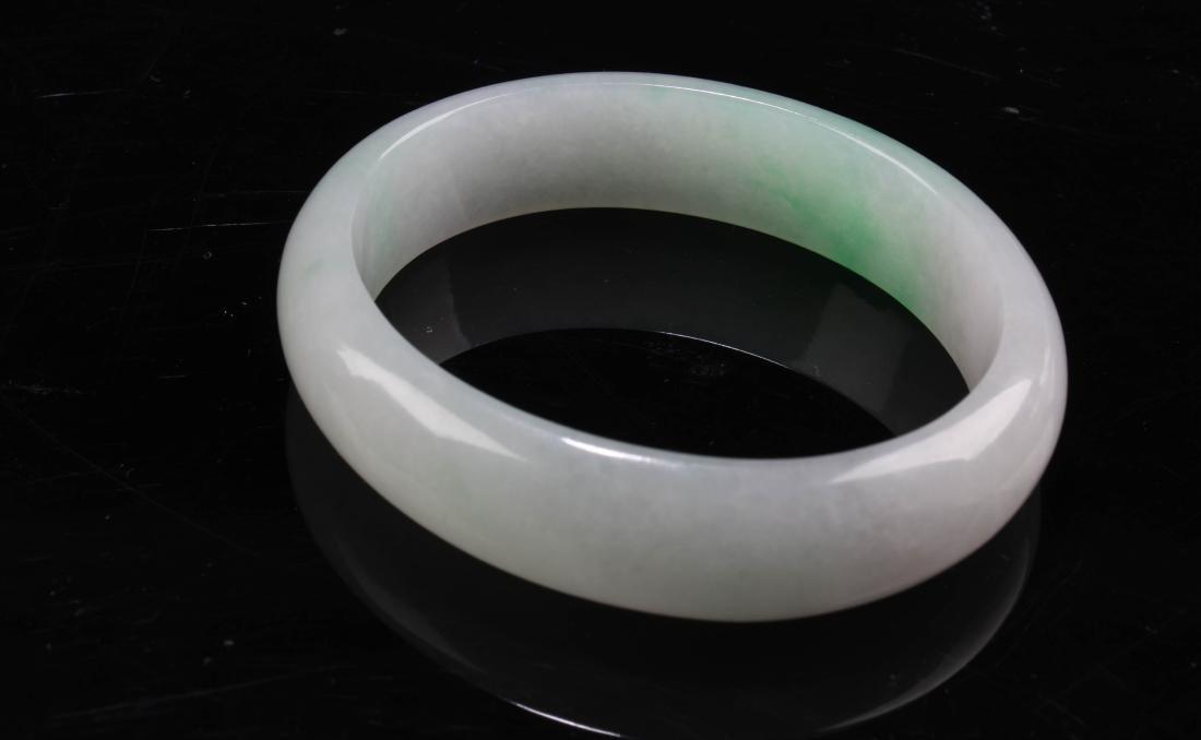 Chinese Jadeite Jade Bangle - 5