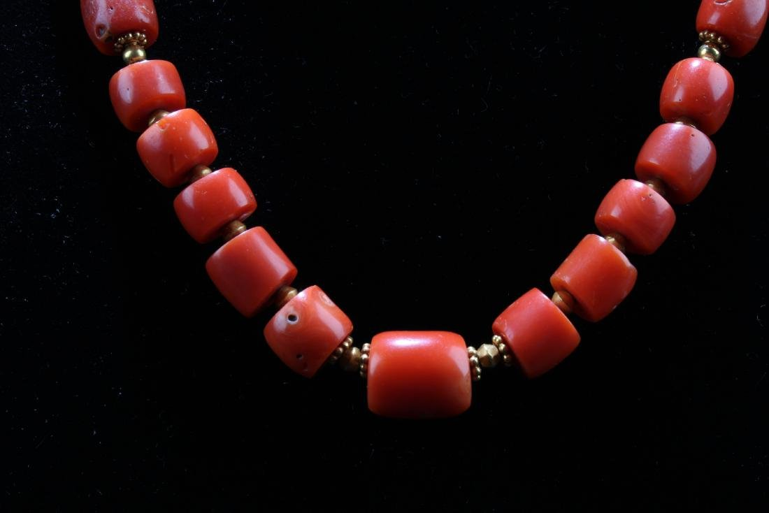 Chinese Red Coral Necklace - 3