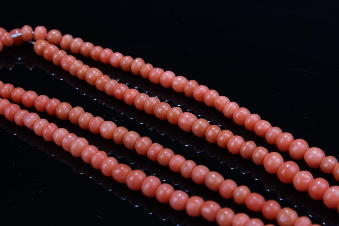 Chinese Red Coral Necklace - 4