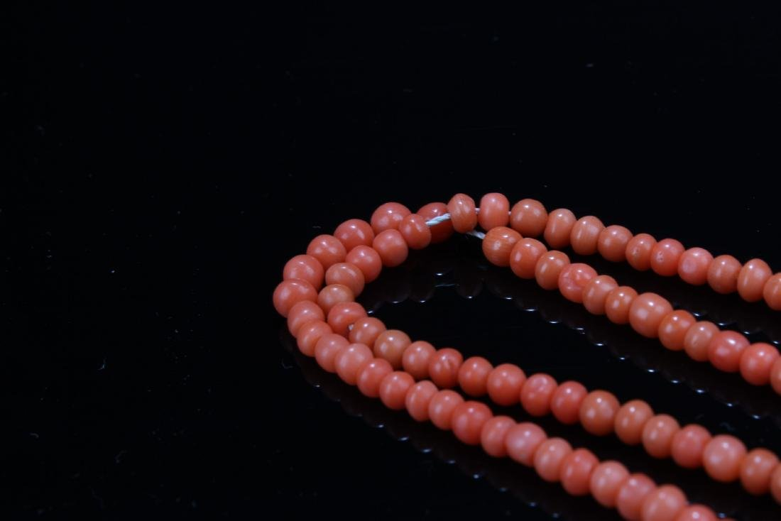 Chinese Red Coral Necklace - 5