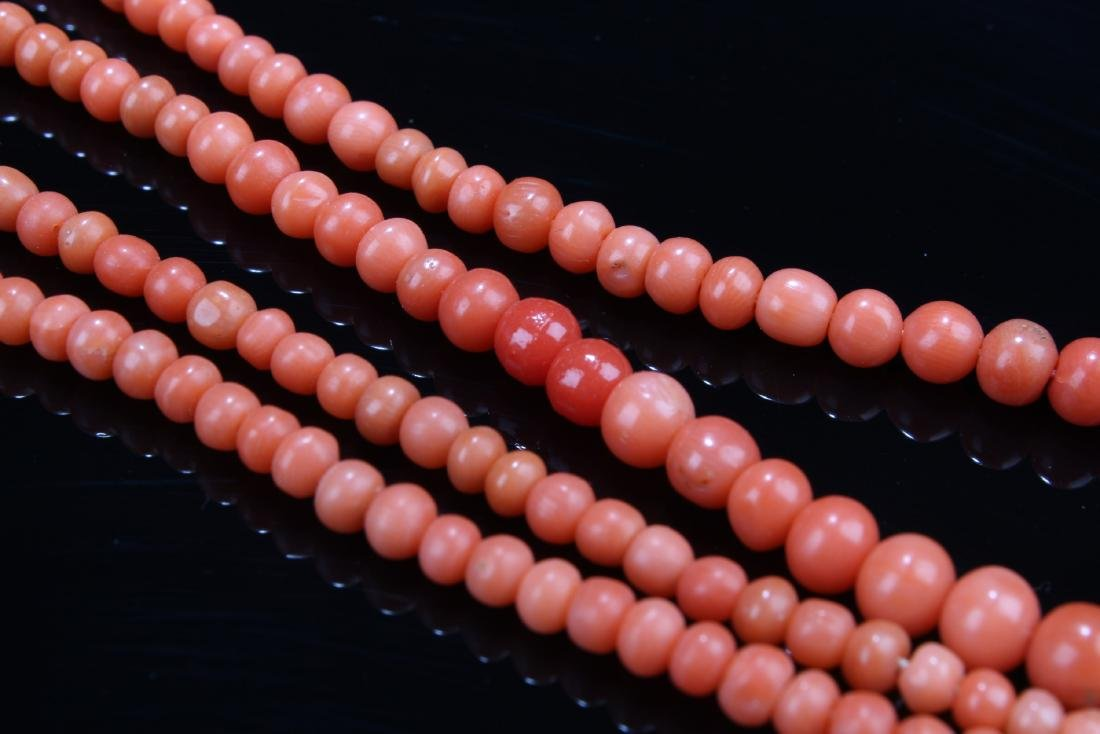 Chinese Red Coral Necklace - 6
